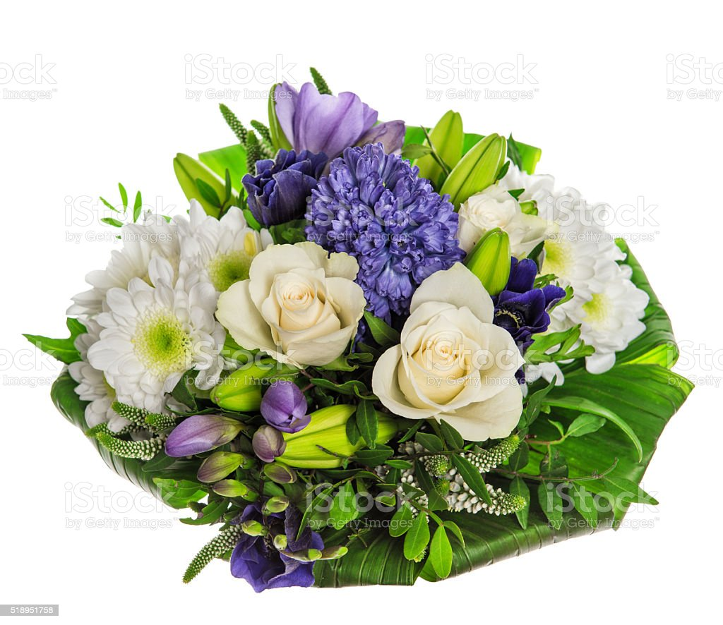 Spring Flowers Bouquet Fresh Hyacinth And Roses Stock Photo & More ...