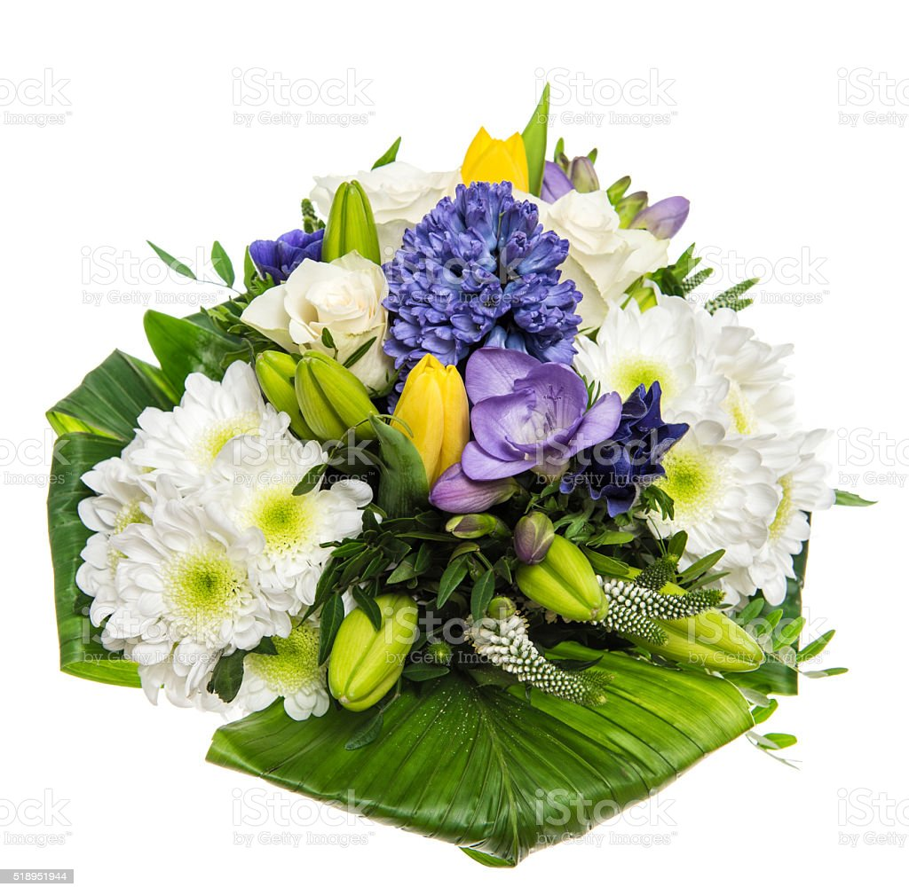 Spring Flowers Bouquet Hyacinth Roses Tulips Stock Photo & More ...