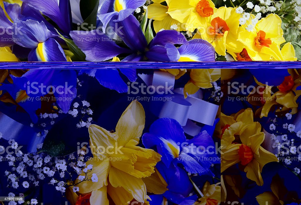 Spring flowers bouquet royalty-free stock photo