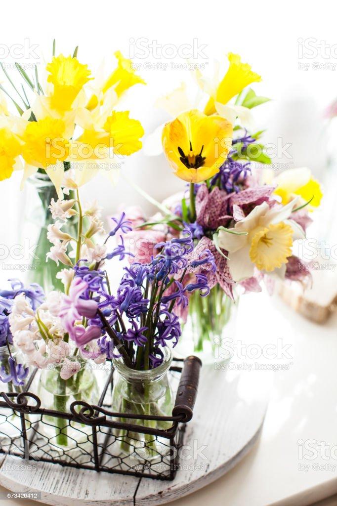 Fruhling Blumen Dekorationen Stock Fotografie Und Mehr Bilder Von