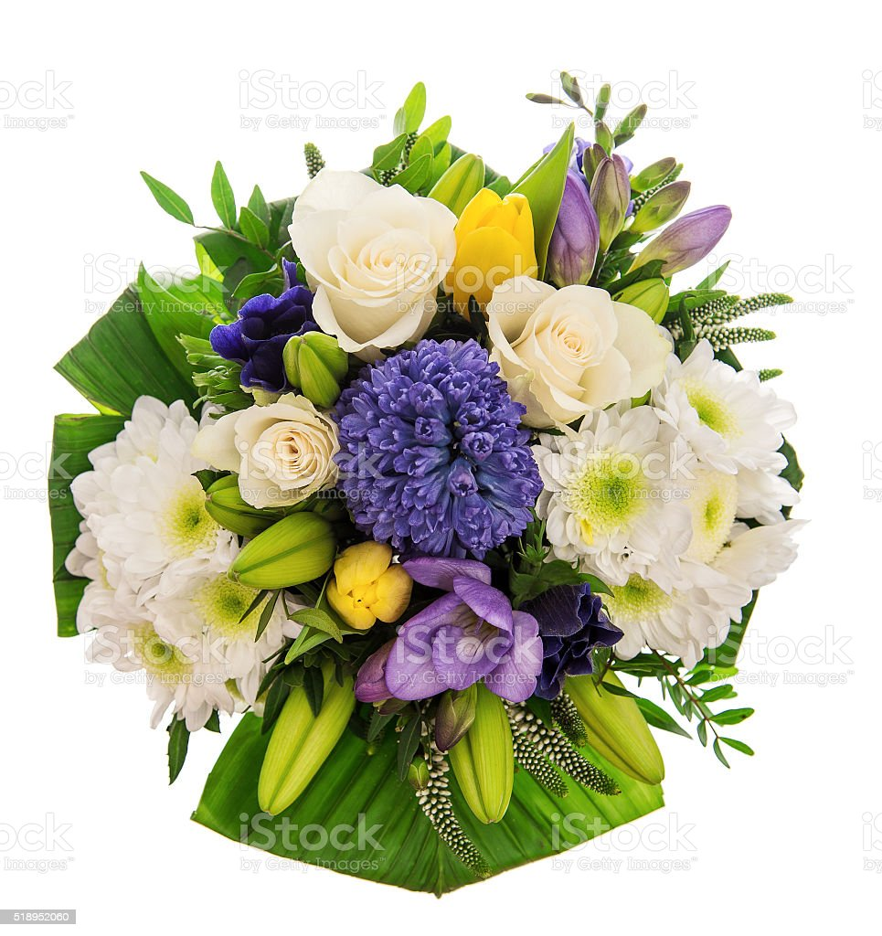 Spring Flowers Hyacinth Roses Tulips Bouquet Stock Photo More