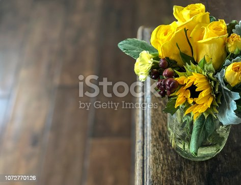 Spring flowers with nice area for text.