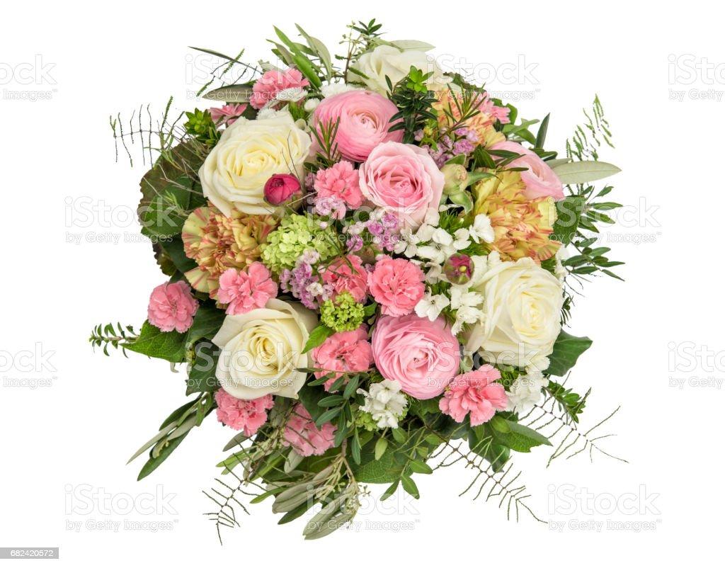 Spring Flowers Rose Ranunculus Carnation Flower Bouquet Stock Photo ...