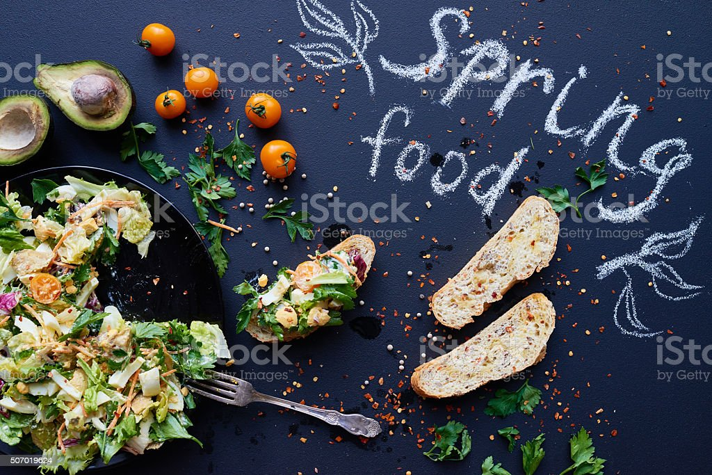 Spring food stock photo