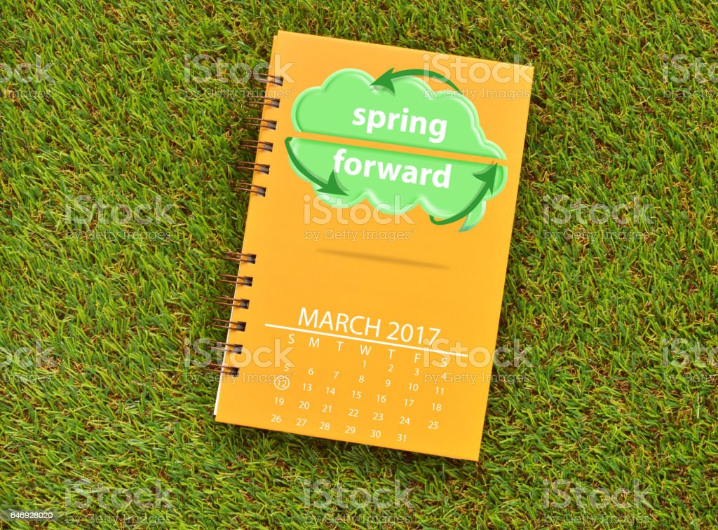 Spring Forward March 2017 stock photo