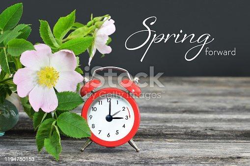 istock Spring forward. Summer time change. 1194750153