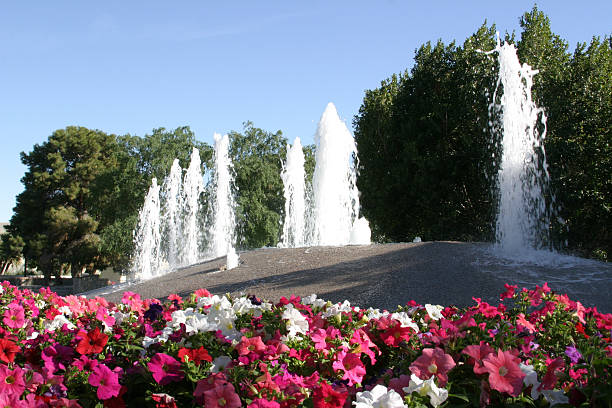Frühling-Brunnen – Foto