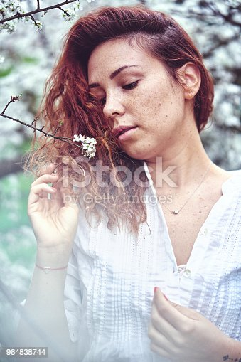 Spring Girl Stock Photo & More Pictures of Adult