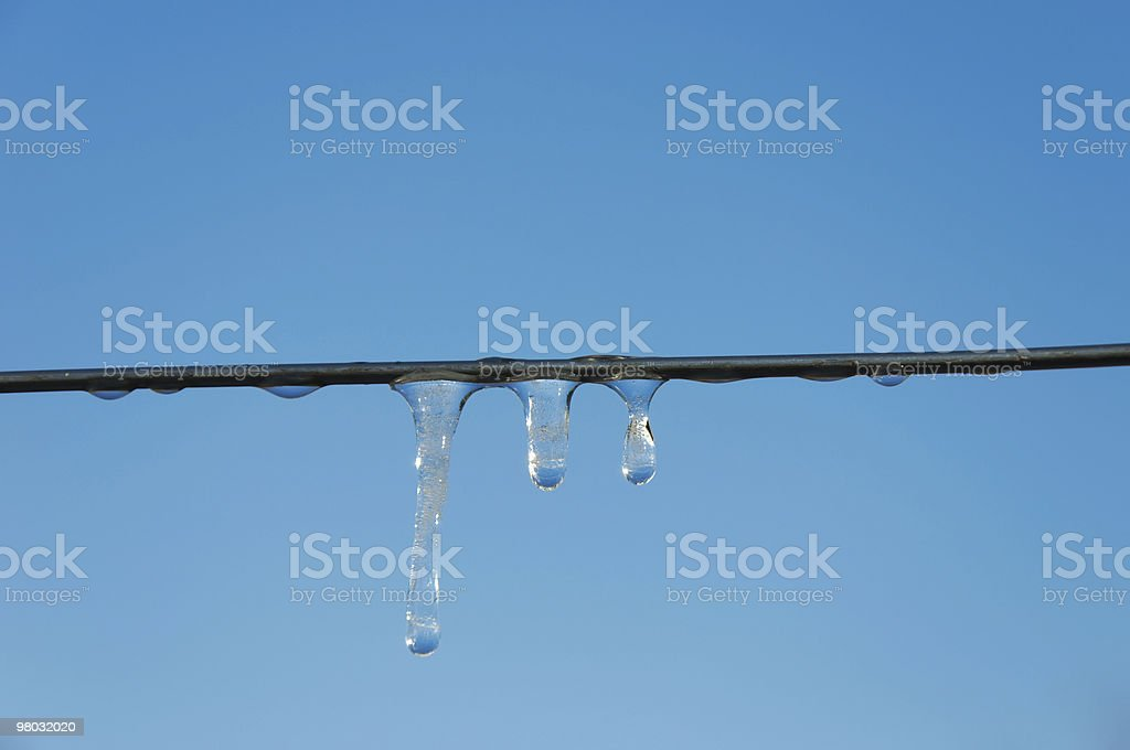spring icicles on a blue sky backgrounds royalty-free stock photo