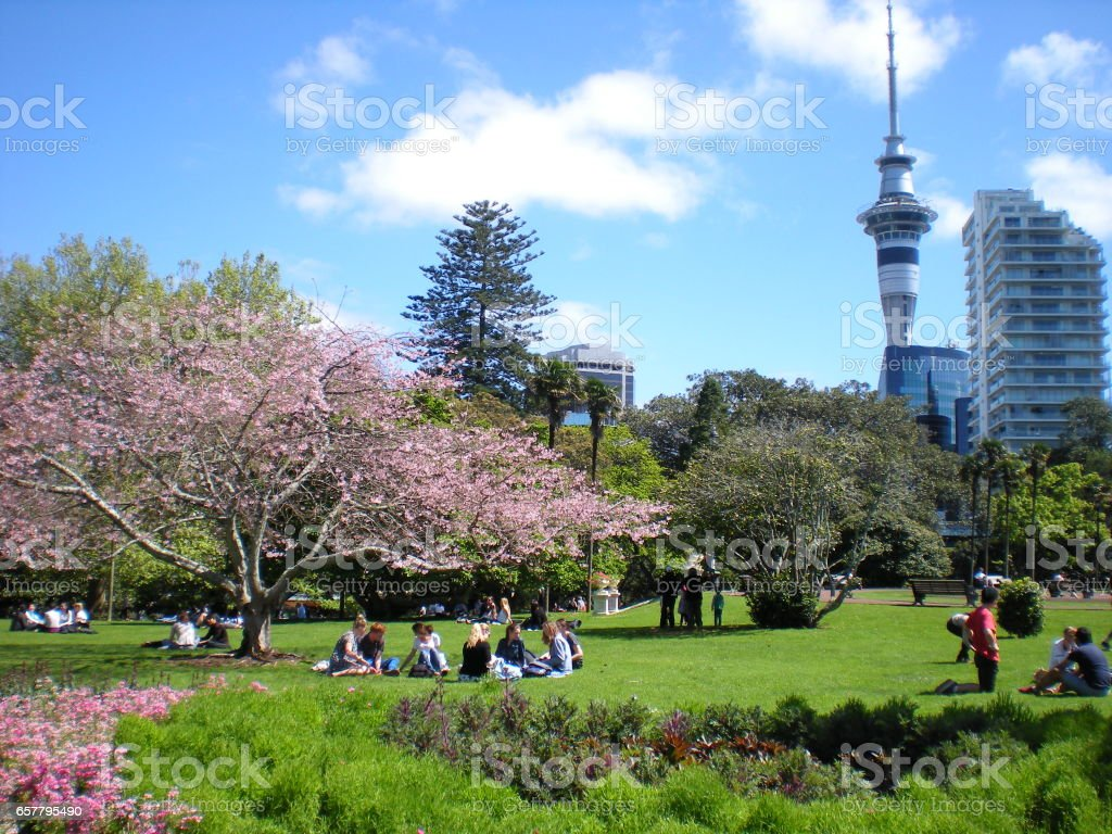 Spring in Albert Park stock photo