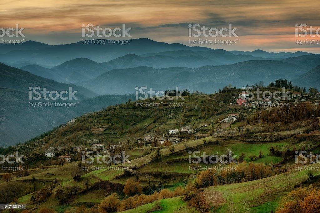 Spring in Bashevo village, Eastern Rhodopes, Bulgaria stock photo