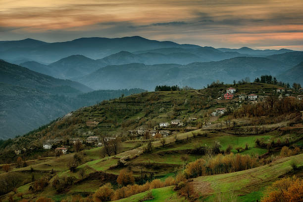 Spring in Bashevo village, Eastern Rhodopes, Bulgaria stock photo