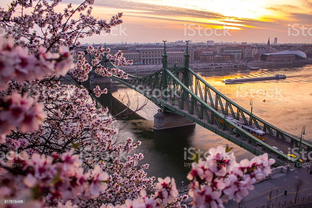 Spring in Budapest stock photo