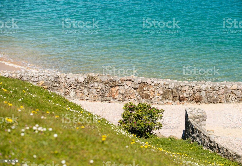 spring in donostia stock photo