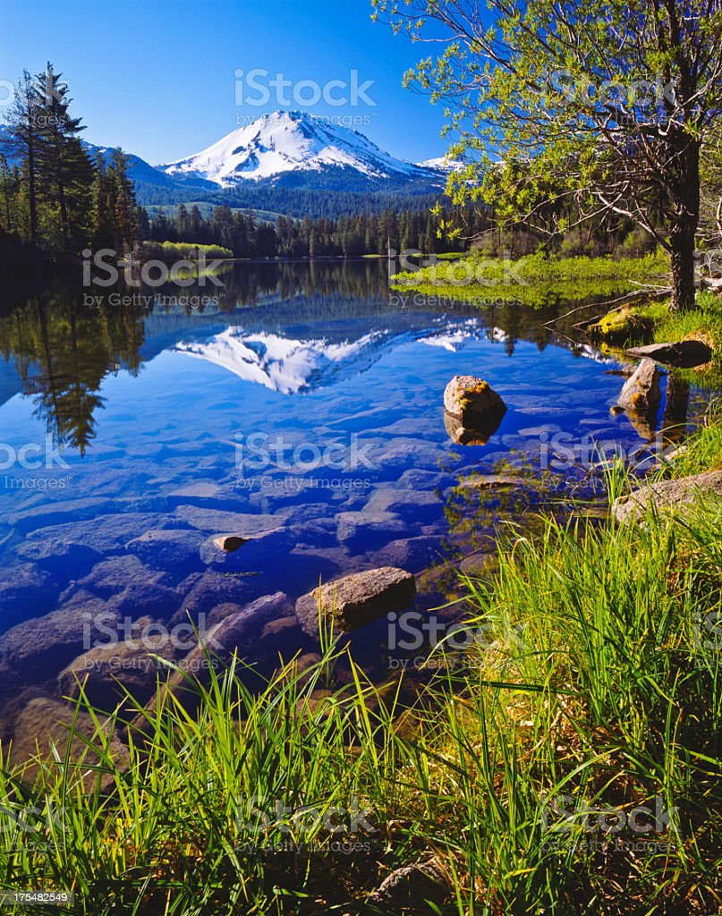 Spring in Lassen Volcanic NP stock photo