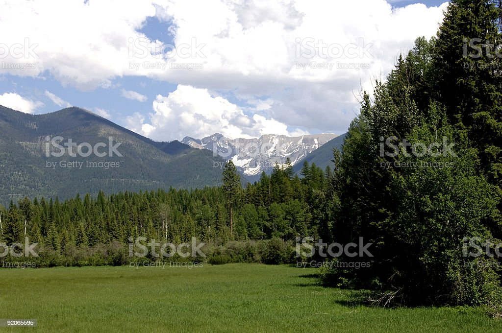 Spring in Montana royalty-free stock photo
