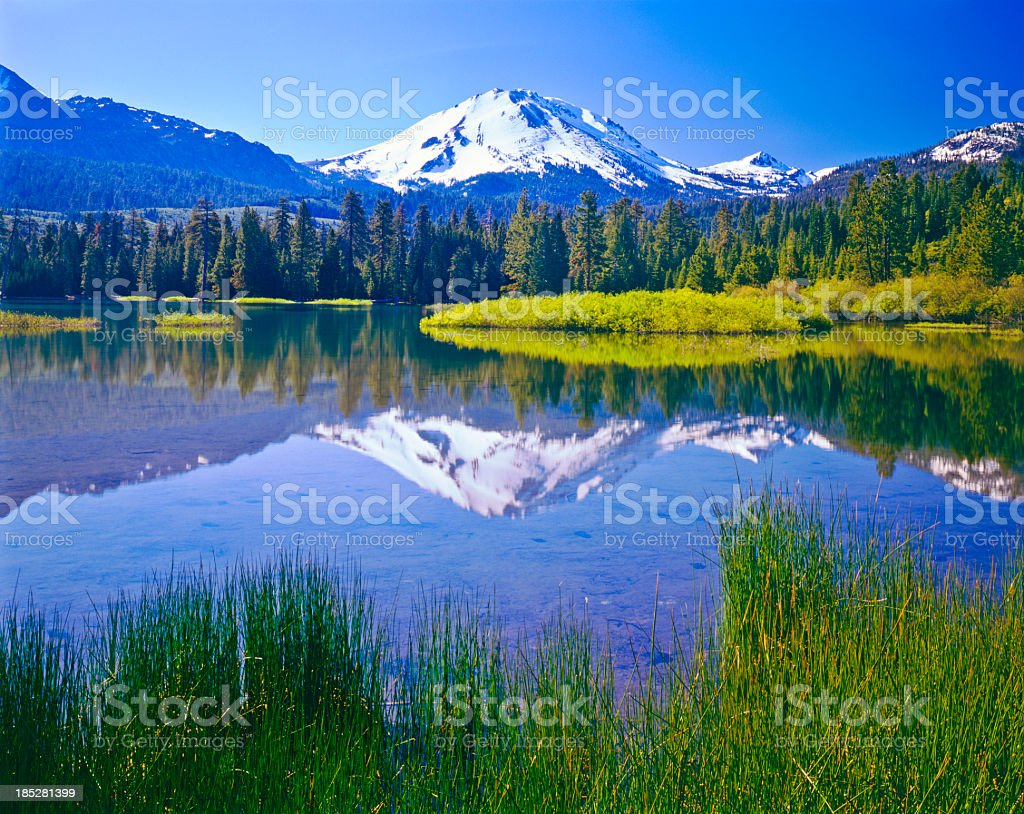 Spring in Mount Lassen NP stock photo