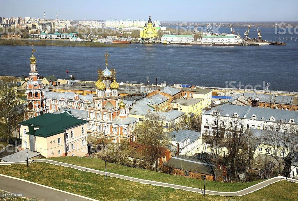 Spring in Nizhny Novgorod Russia stock photo