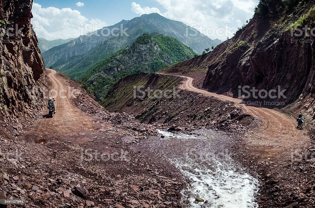 Spring in Pamir Mountains of Tajikistan stock photo