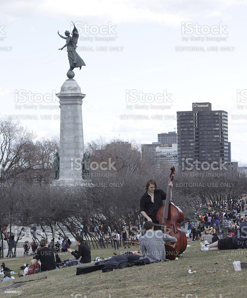 Spring in Tamtam park Montréal stock photo