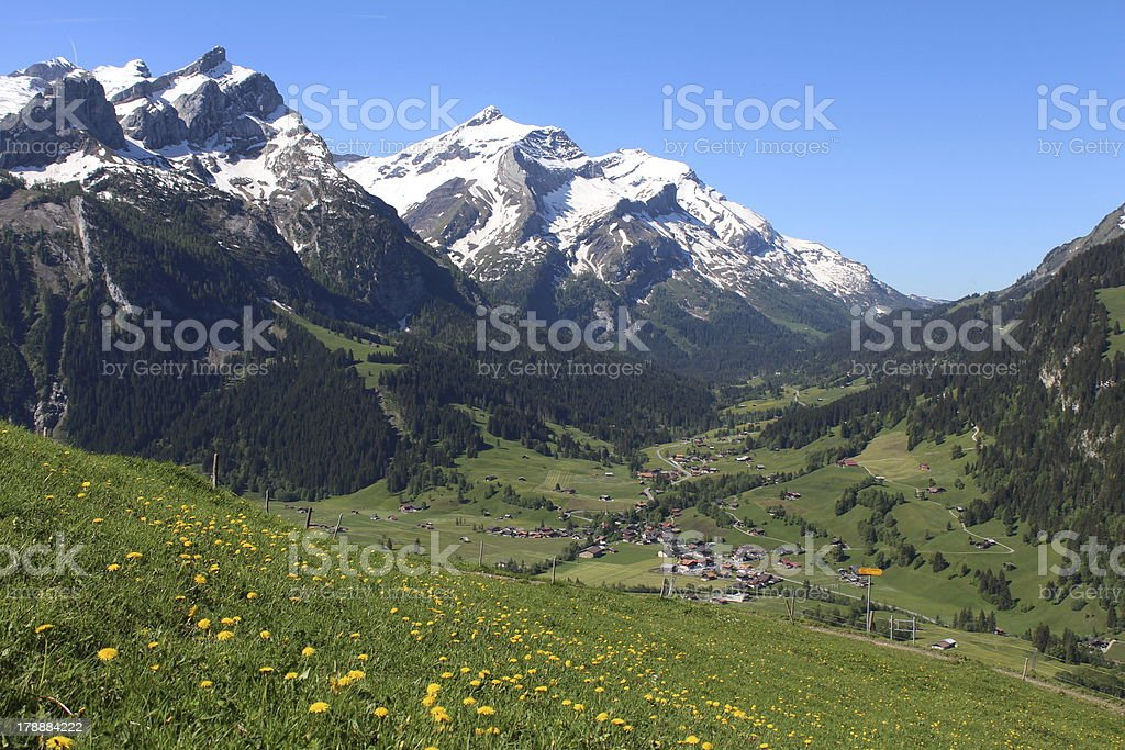 Spring in the Bernese Oberland stock photo