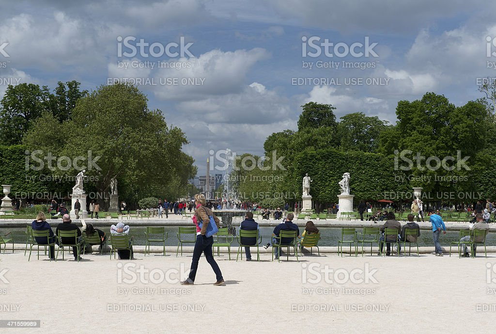 Spring in the Parisien Jardin des Tuileries royalty-free stock photo