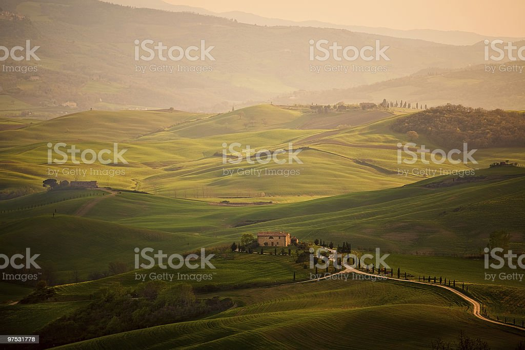 Spring in the Tuscany near Pienza royalty-free stock photo