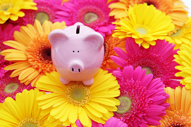 Spring into Savings stock photo