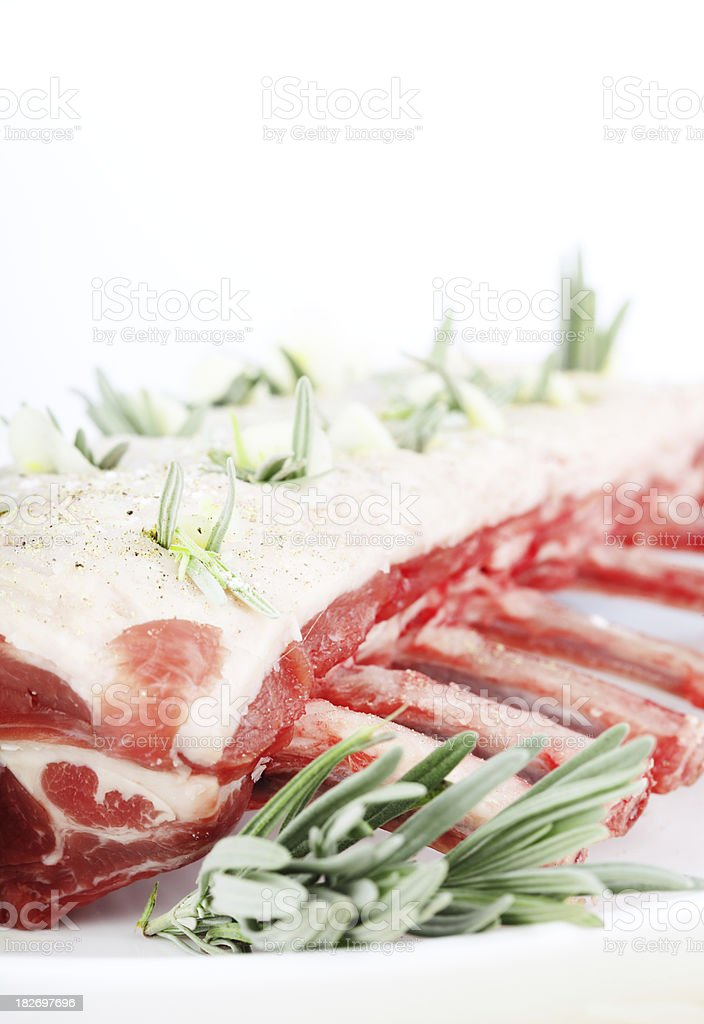 Spring Lamb with Lavendar and Garlic royalty-free stock photo