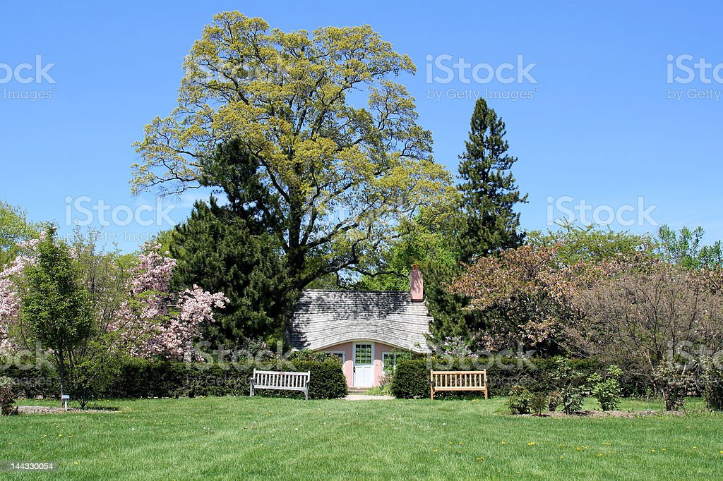 Spring Landscape in the Garden royalty-free stock photo