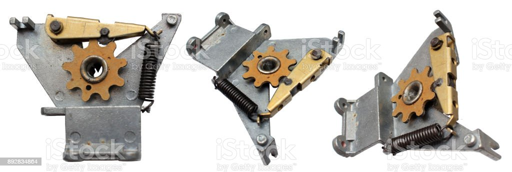 Spring loaded detent mechanism of a rotary switch stock photo