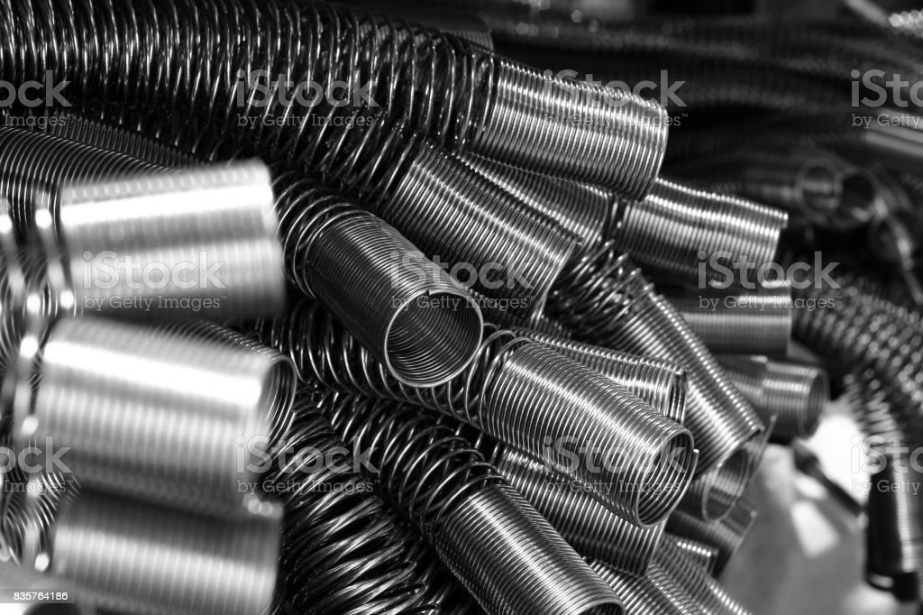 Spring metal for hydraulic. stock photo