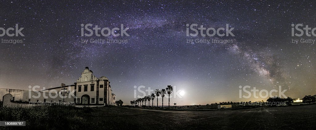 Spring Milky Way royalty-free stock photo