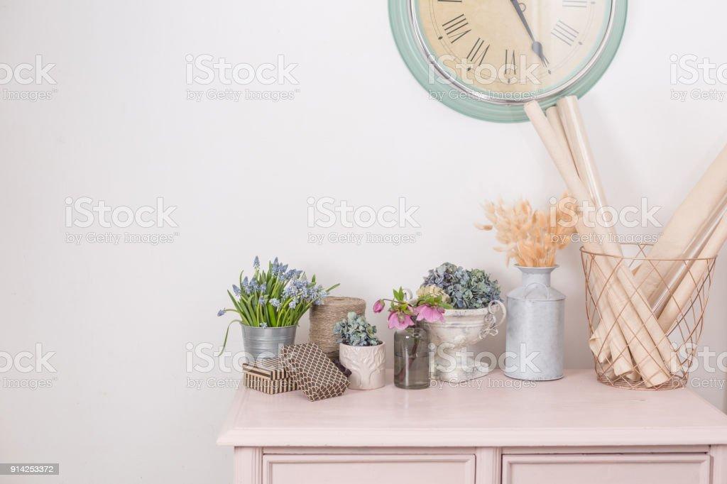 Spring Mood Vintage Interior Decoration Pink Pastel Closet Dry Anf ...