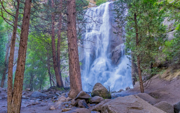 Spring morning at Grizzly Falls in Kings Canyon National Park, CA(P) stock photo