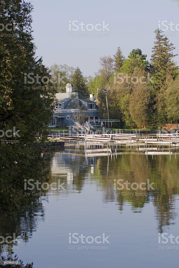 Spring Morning on Cazenovia Lake royalty-free stock photo