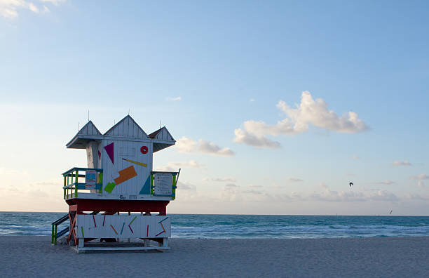 Spring morning on South Beach stock photo