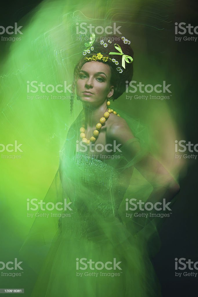 Spring motion royalty-free stock photo