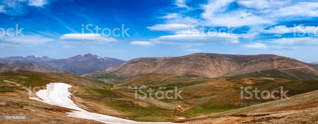 Spring Mountain Landscape Panorama Pontic Mountains Northern