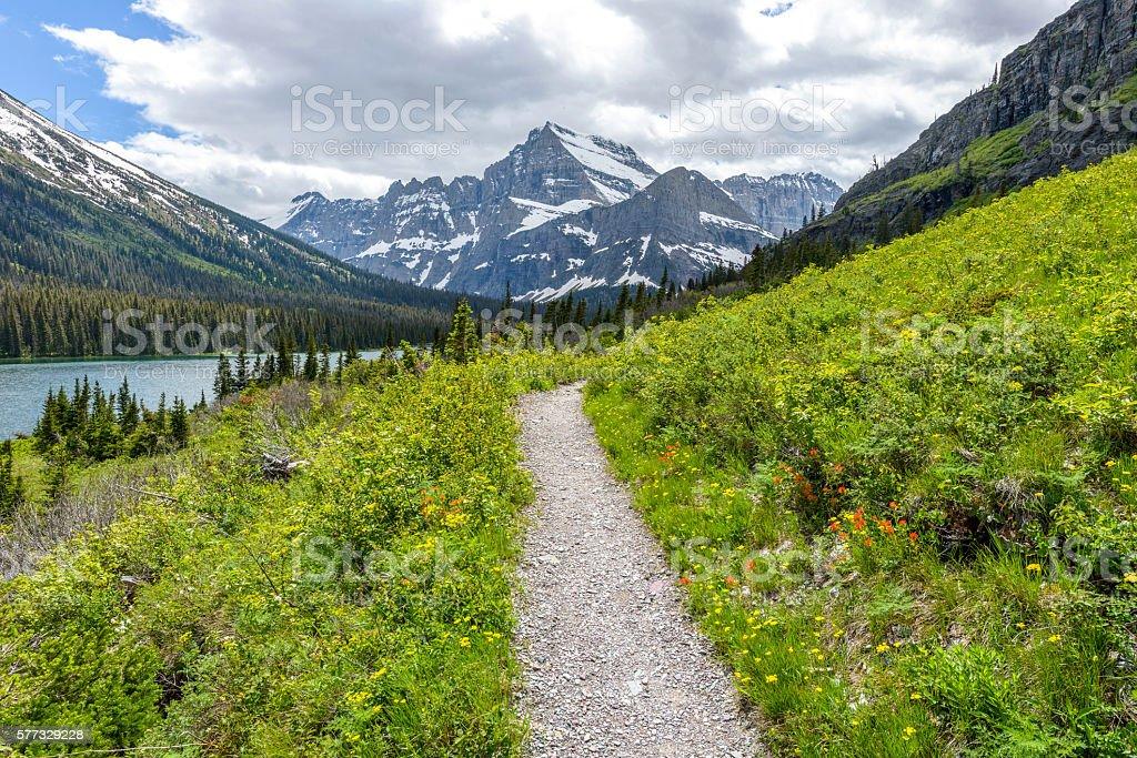 Spring Mountain Trail stock photo