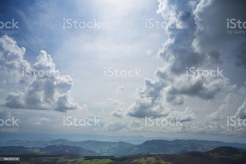 Spring mountain view stock photo
