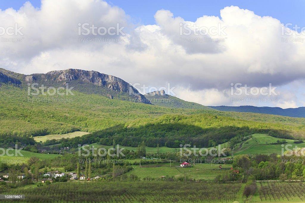 spring mountains landscape (Crimea, Ukraine) royalty-free stock photo