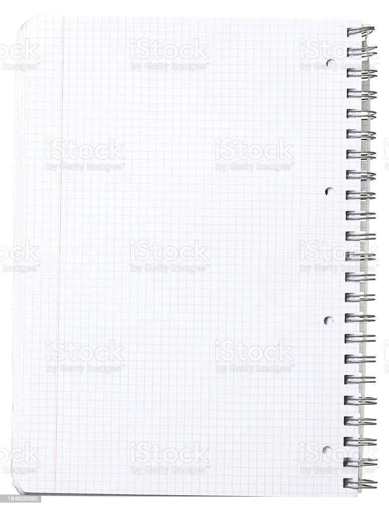 Spring notepad. stock photo