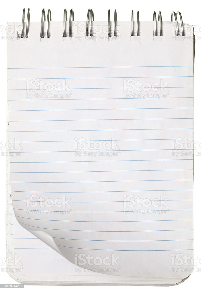 Spring notepad with striped paper. royalty-free stock photo