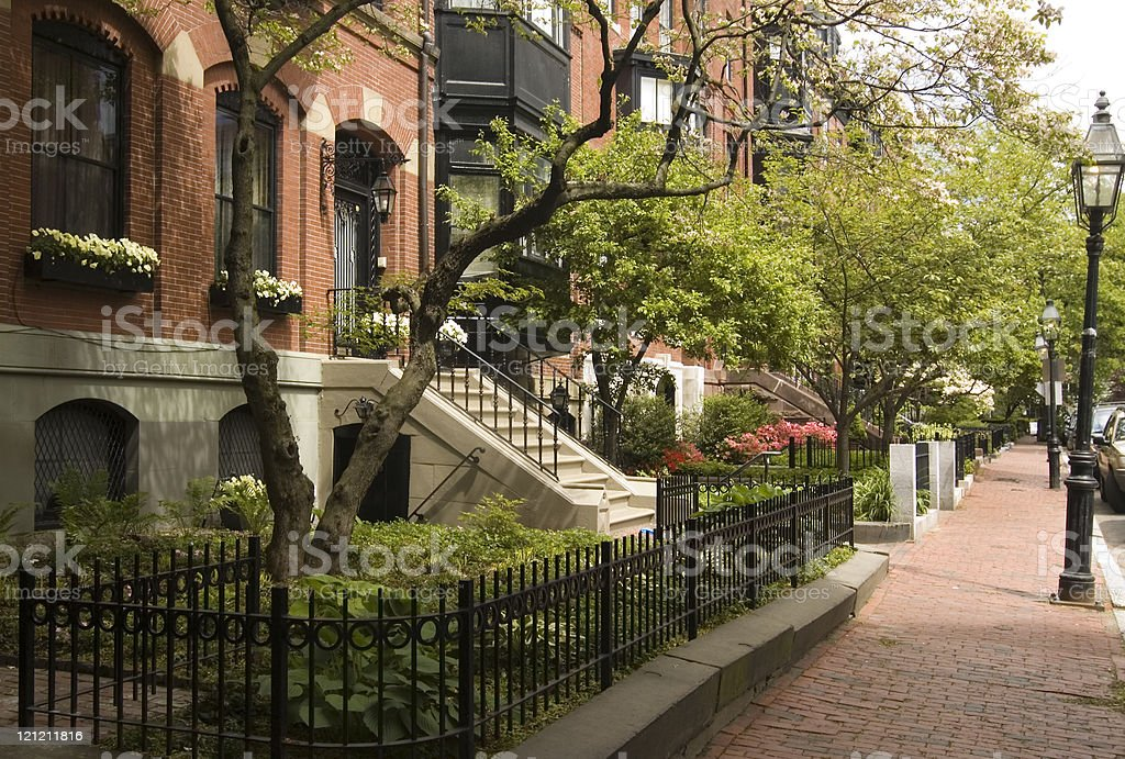 Spring on Beacon Hill royalty-free stock photo