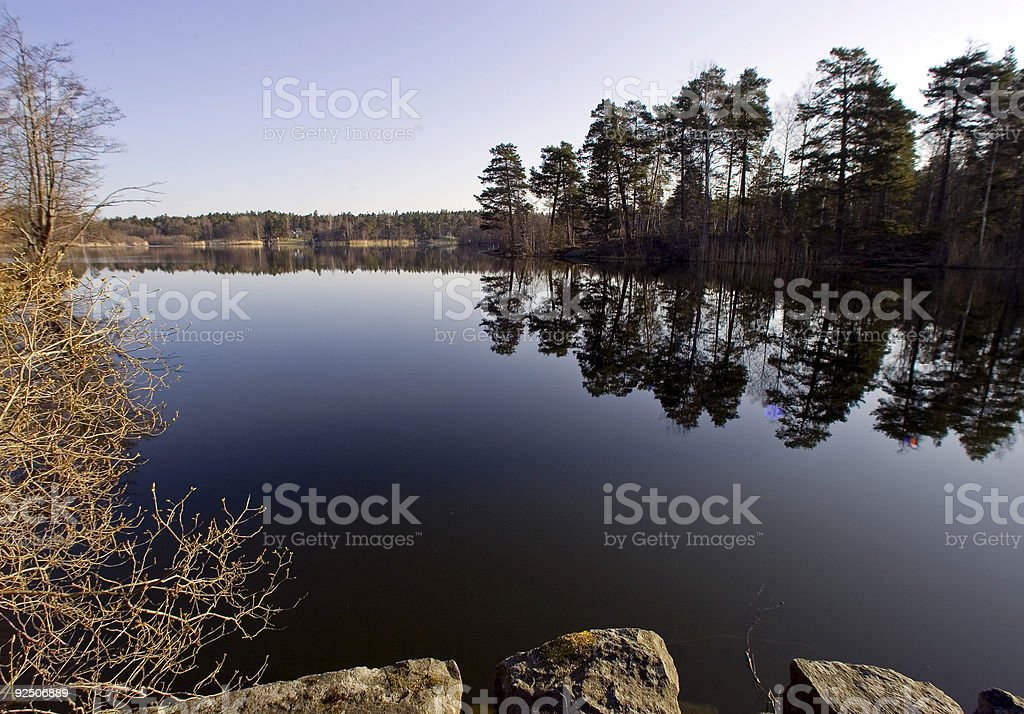 Spring on the Stockholm archipelago royalty-free stock photo