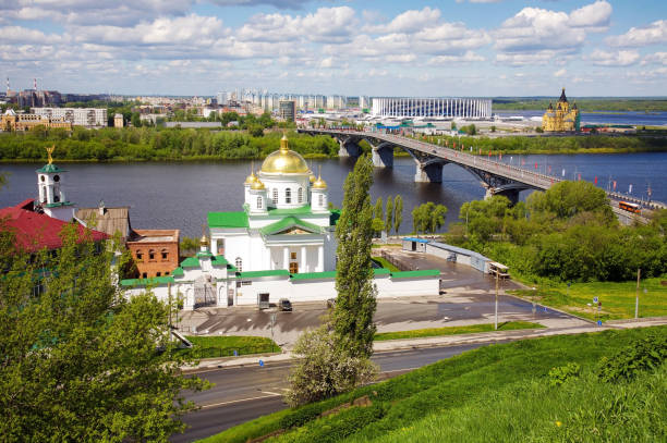 Frühlingspanorama von Nischni Nowgorod – Foto