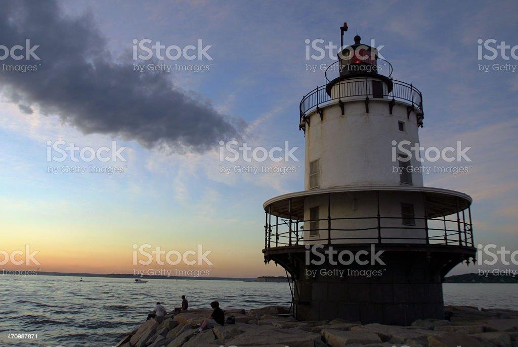 Spring Point Ledge Light, Maine royalty-free stock photo