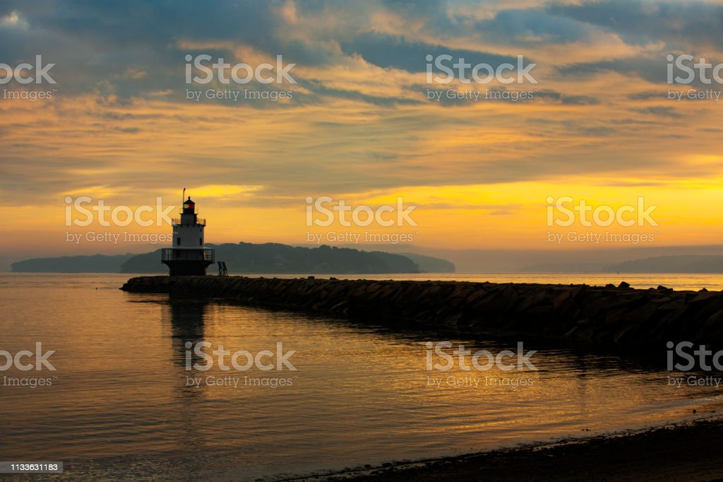 Spring Point Ledge Lighthouse stock photo