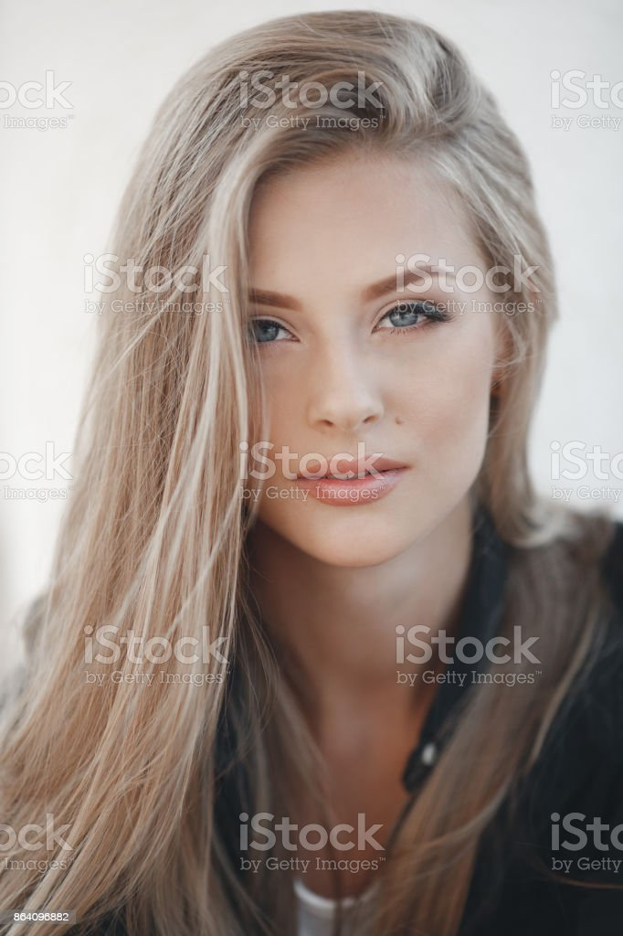 Spring portrait of a beautiful young woman in the fresh air royalty-free stock photo